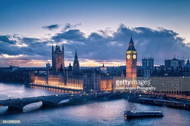 sunset on westminster palace - city of westminster london stock pictures, royalty-free photos & images