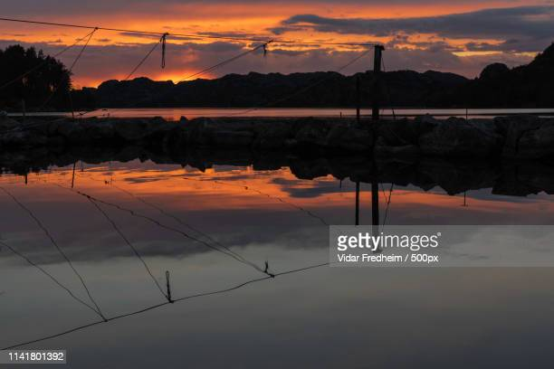 sunset outside egersund - egersund stock photos and pictures