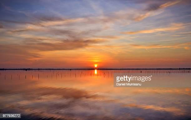 Sunset over Adriatic Sea, Chioggia, Veneto, Italy