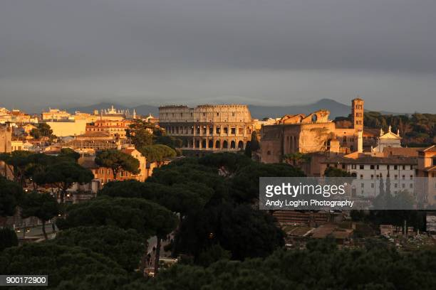 Sunset over beautiful Rome