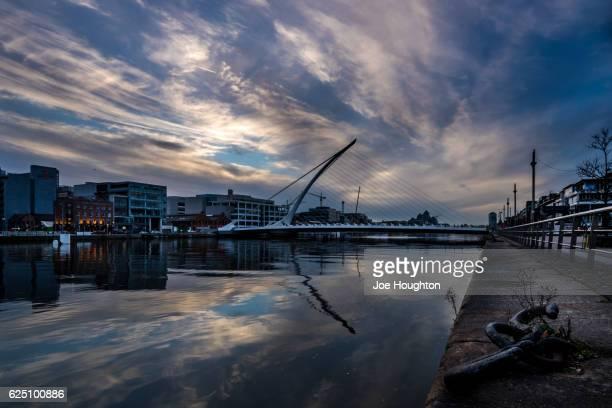 Sunset over Beckett Bridge, Dublin