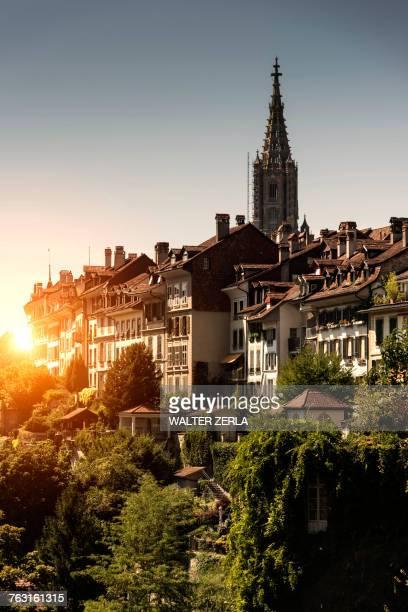 Sunset over Bern, Switzerland, Europe