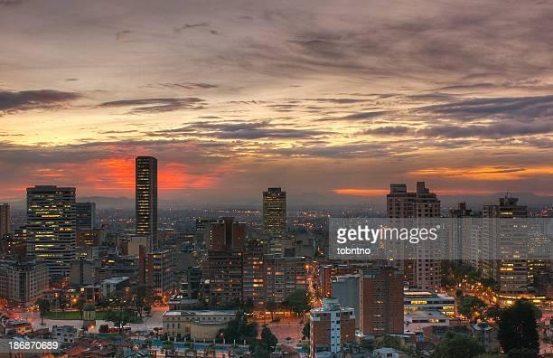 Sonnenuntergang HDR über Bogotá?