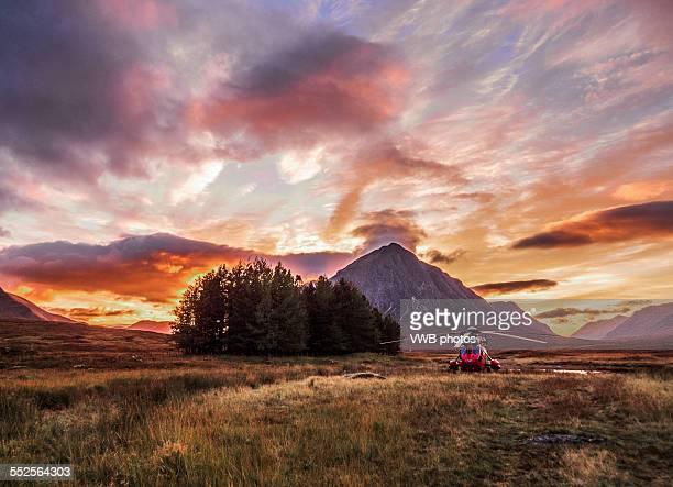 Sunset over Buachaille Etive Mor, Glencoe, Scotlan