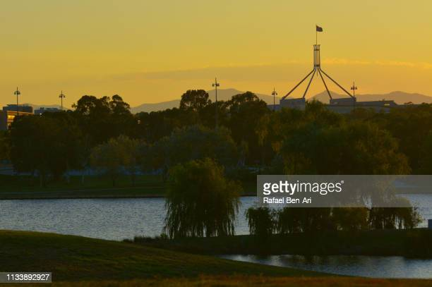 Sunset over Canberra Parliamentary Zone