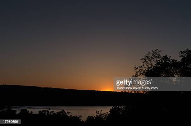 sunset over cayuga lake, ithaca ny - sursly stock pictures, royalty-free photos & images
