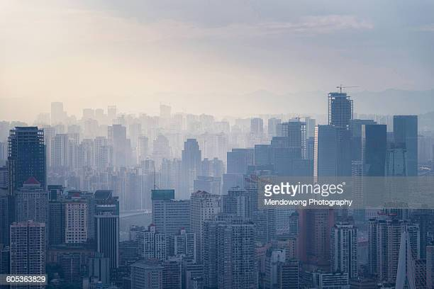 Sunset over ChongQing City