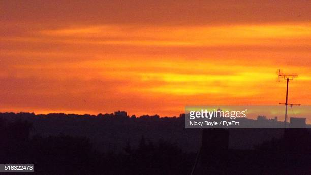 sunset over city - port talbot stock pictures, royalty-free photos & images
