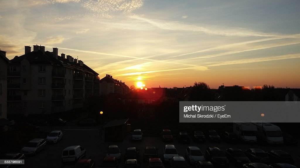 Sunset Over City : Foto stock