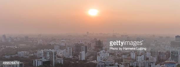 Sunset over Dhaka, Bangladesh