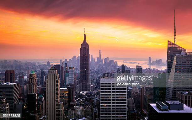 Sunset over Empire State Building, New York City