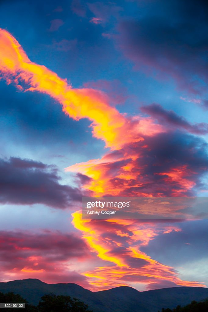 Sunset over Fairfield in the Lake District, UK. : Stock Photo