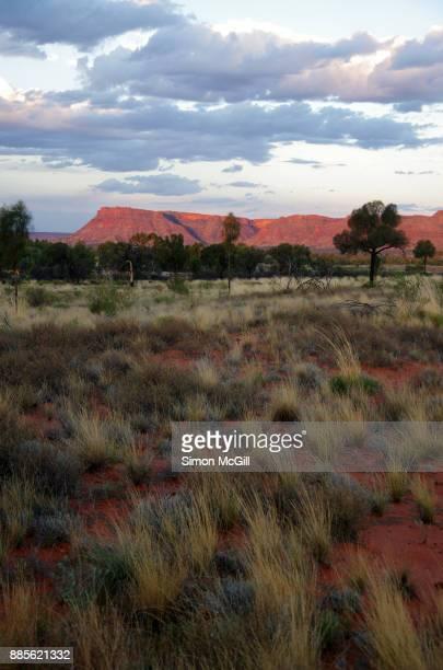 Sunset over George Gill Range near Kings Canyon, Watarrka National Park, Northern Territory, Australia