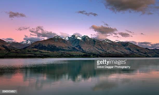 sunset over Glenorchy New Zealand