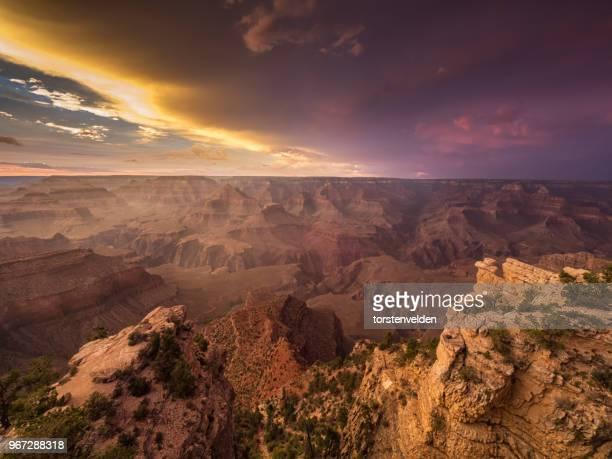 Sunset over Grand Canyon, Arizona, America, USA