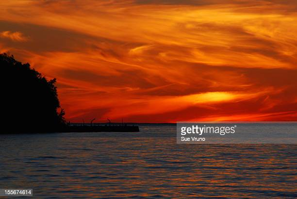 Sunset over Green Bay