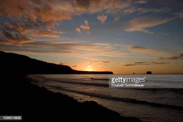 Sunset over Greymouth Beach, South Island, New Zealand, Oceania