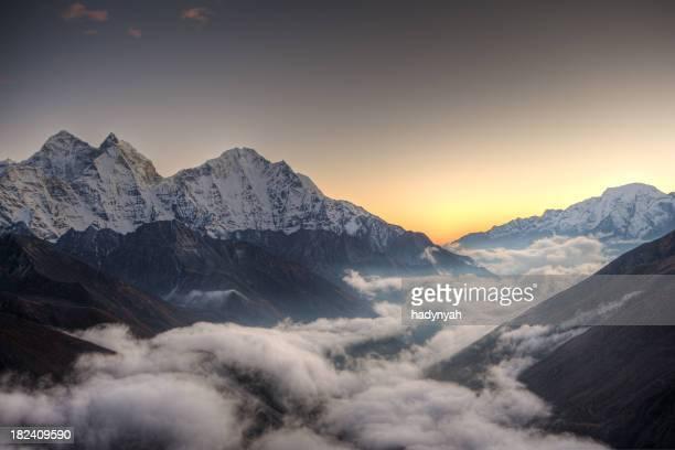 Sunset over Himalayas