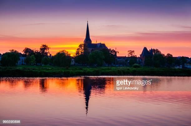 Sunset over IJssel