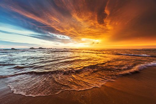 Sunset over Indian ocean - gettyimageskorea