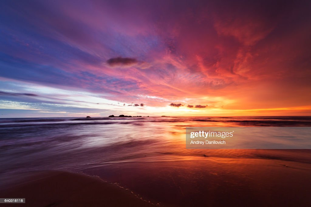 Sunset over Indian ocean : Stockfoto