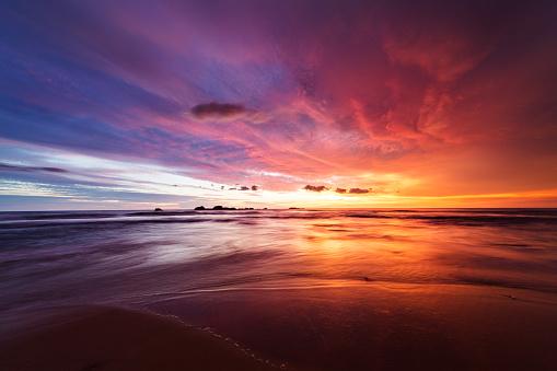Sunset over Indian ocean 640318118