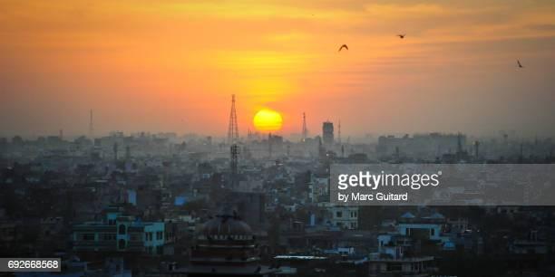 Sunset over Jaipur, Rajasthan, India