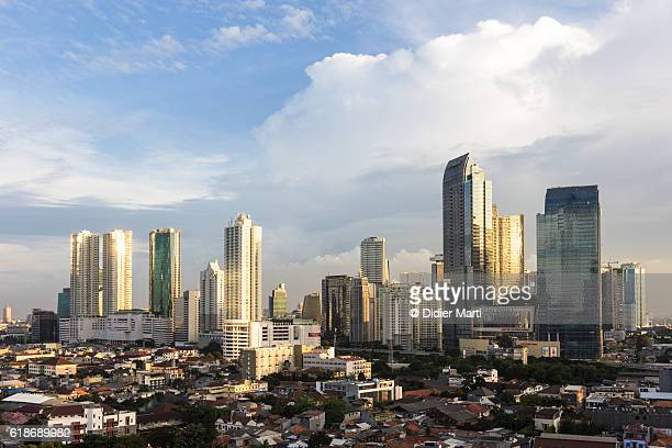 Sunset over Jakarta skyline