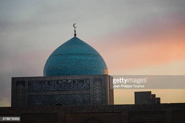 Sunset over Kayan Mosque, Bukhara, Uzbekistan