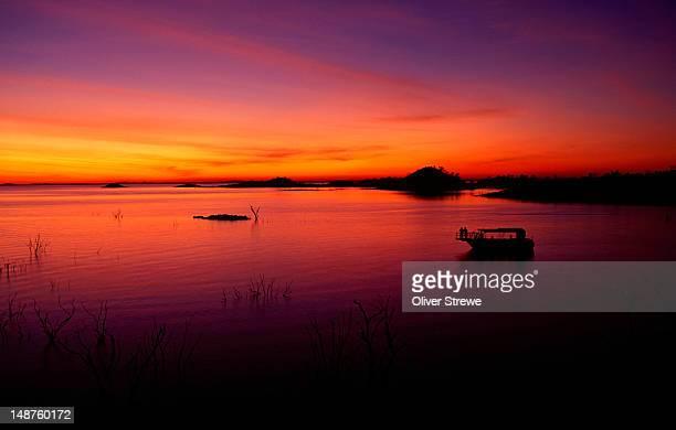 Sunset over Lake Argyle.