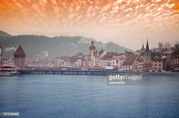 Sunset over Lake Lucerne