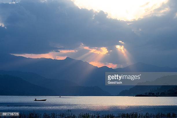 Sunset over Lake Phewa