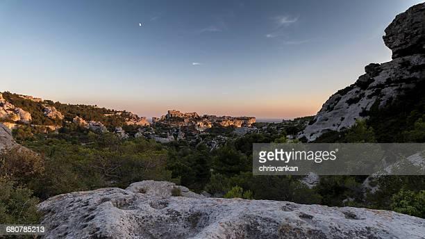 Sunset over Les Baux de Provence, Cote d'Azur, France