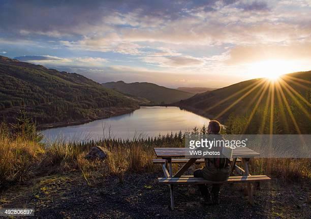 Sunset over Loch Tarsan, Cowal peninsula, Argyll