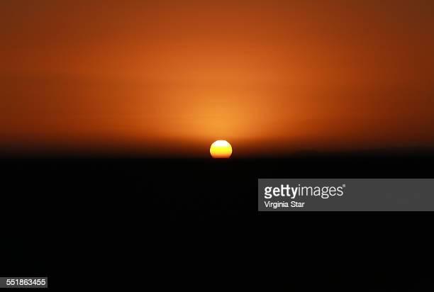 Sunset over Malibu California USA