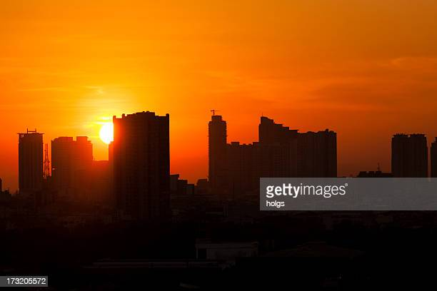 Sunset over Manila Skyline, Philippines