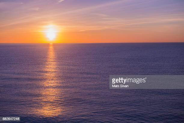 Sunset over Mediterranean sea