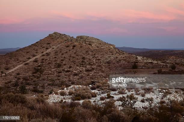 sunset over mojave desert - terryfic3d stockfoto's en -beelden