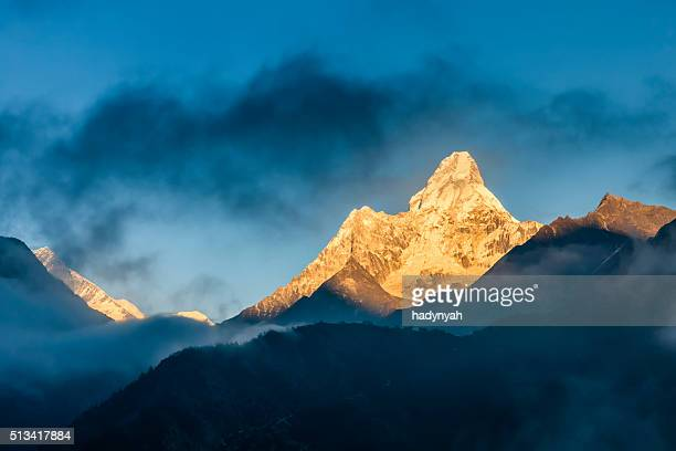 Sunset over Mount Ama Dablam, Himalayas, Nepal