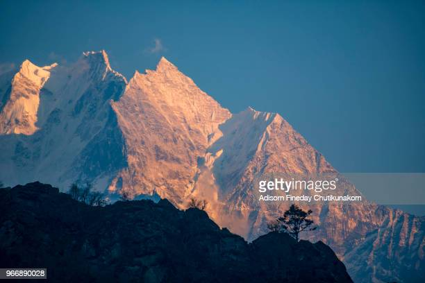 Sunset Over Mount Everest, Sagarmatha, Nepal