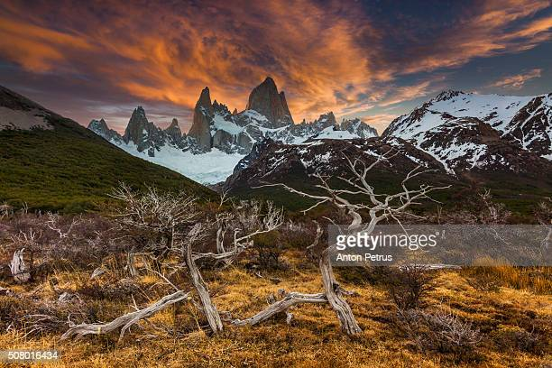 Sunset over Mount Fitz Roy