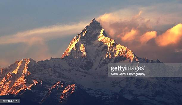 Sunset over Mt. Machapuchare Fish Tail