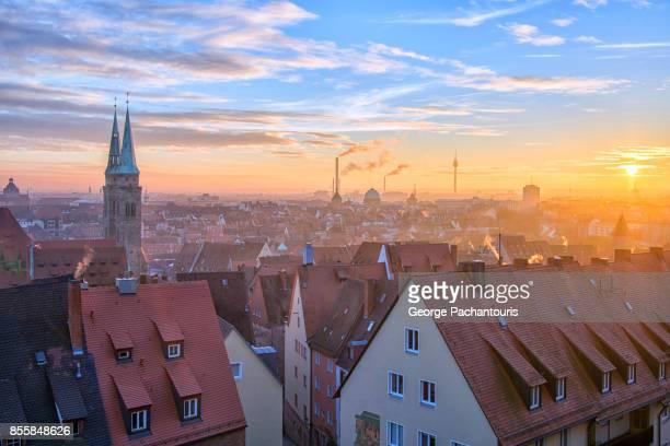 Sunset over Nuremberg, Germany