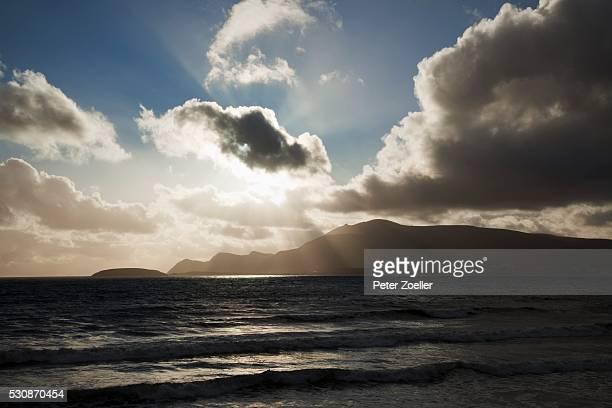 Sunset Over Ocean Horizon; Keel Beach, Achill Island, County Mayo, Ireland