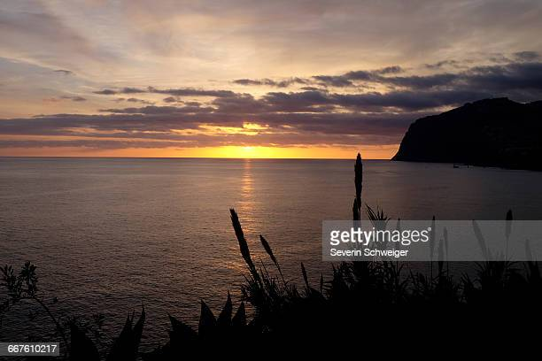 Sunset over ocean, Madeira, Funchal, Portugal