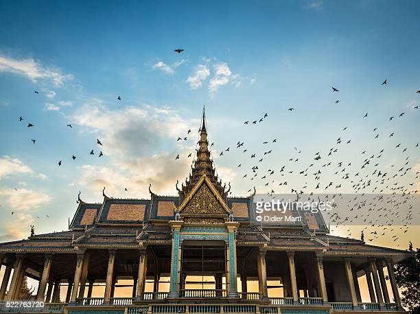 Sunset over Phnom Penh Royal Palace