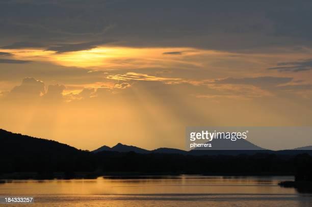 Sunset over Pinnacle Mountain, Little Rock, Arkansas