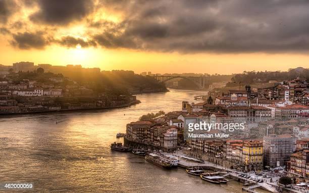 Sunset over Porto, Portugal
