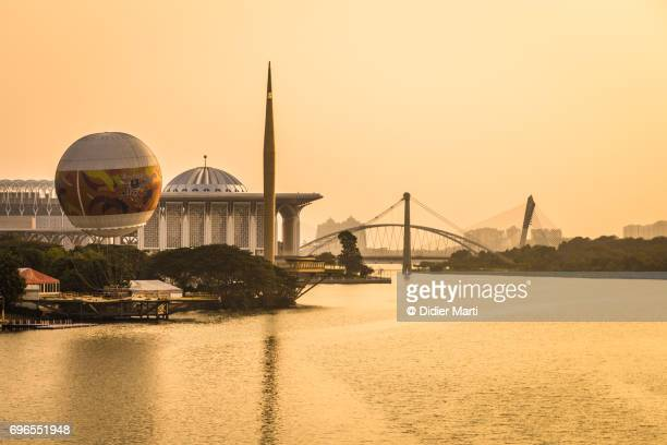sunset over putrajaya in malaysia - didier marti stock photos and pictures