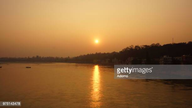 Sunset over River Ganges 1